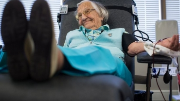 An Active mind key to good health says Canada's oldest blood doner