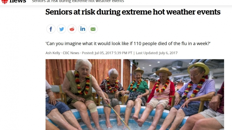 Seniors at risk during extreme hot weather events – From CBC.CA